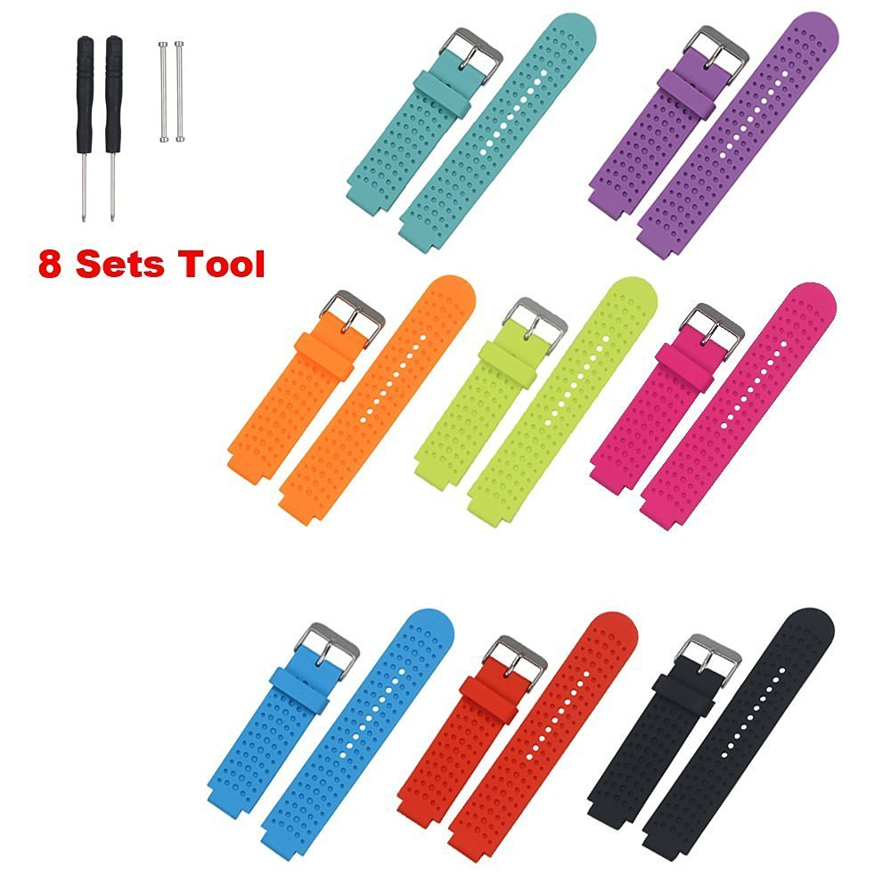 Replacement Bands and Straps for Garmin Forerunner 735 GPS Running Watch - 8pcs