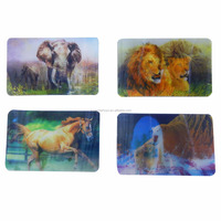 5160708-12 Gifts & Crafts toys ABS 3D card animal 3D picture