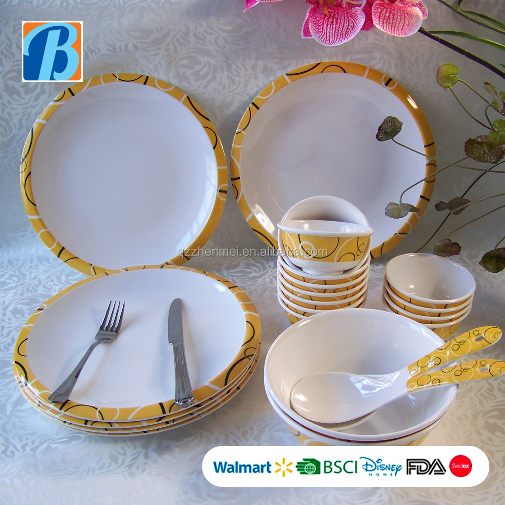 hot sale the middle east houseware dinner set of melamine ware