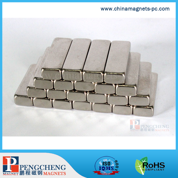 High Quality Industrial Magnet Application 25.4x 7.9 x 4.8mm N40 ndfeb magnet with motor