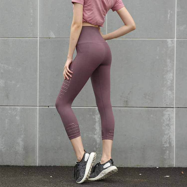 Womens hohe Taille Sport Yoga Laufhose Slim Fit Leggings Fitness Gym Kleidung