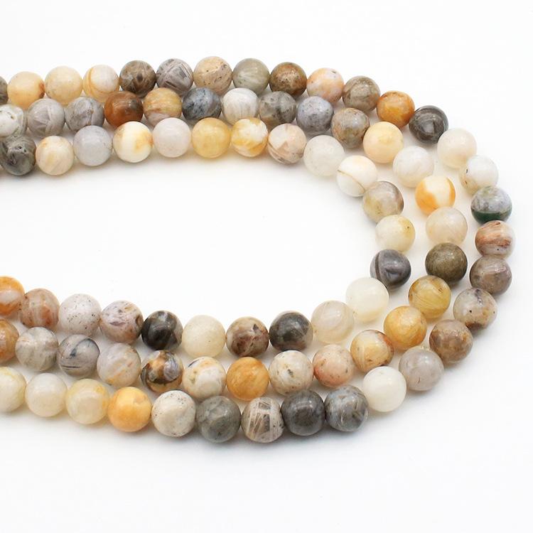 14905e4f9c95 Venta caliente Natural hoja de bambú ágata piedra suelta perlas para la  fabricación ...