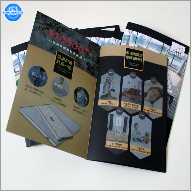 Custom full color printing brochure and leaflet printing