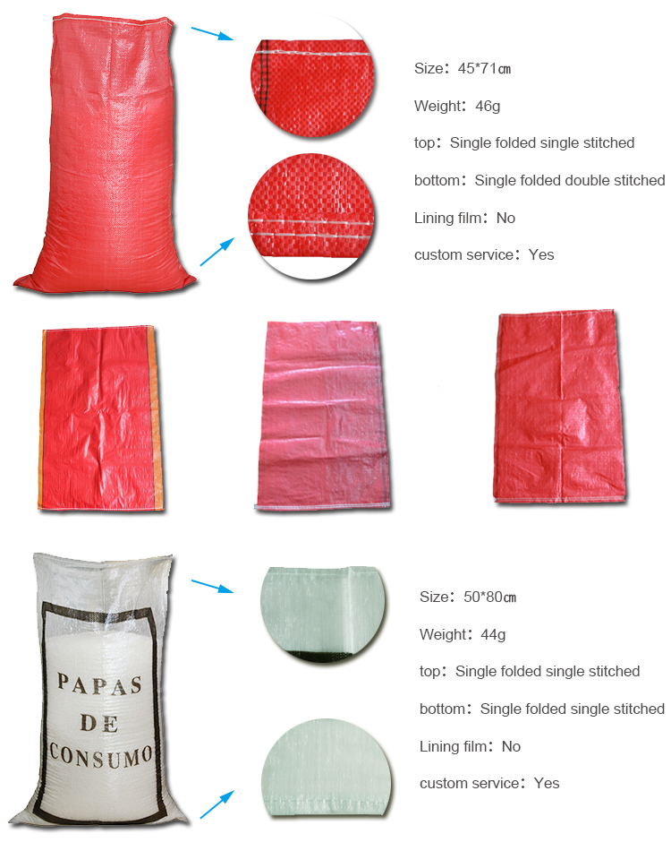 Chile potato red pp woven bag 25kg polypropylene packaging bag for agricultural,corn,grain