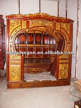 Chinese Antique Wedding Bed - Buy Antique Style Wooden Bed,Antique ...