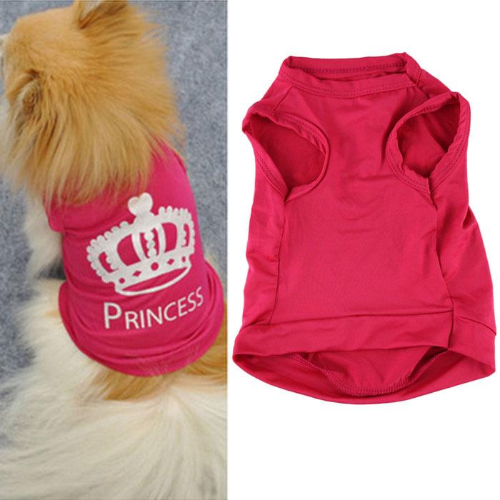Домашнее животное собака Cat милый принцесса футболки одежда жилет лето пальто пагги костюмы одежда продукты для собаки Voberry