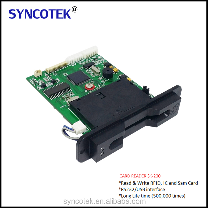 Factory price EMV chip card reader writer for atm kiosk machine with ce certificate SK-200