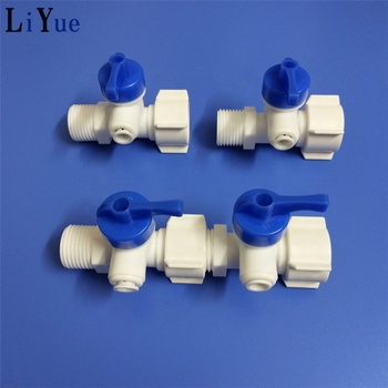 "Hot sale water purifier water filter pvc solenoid valve water tube parts 1/4""OD Ball Valve Quick Connect"