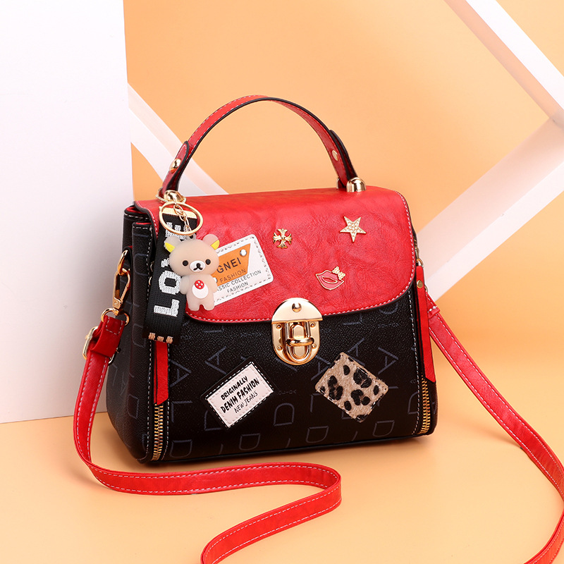Wholesale Fashion Trends Woman Embroidery Messenger Bags pu leather lady handbag, ladies handbags