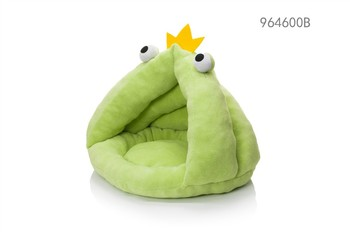hot products pet bed accessories rosey form animal frog design cat bed