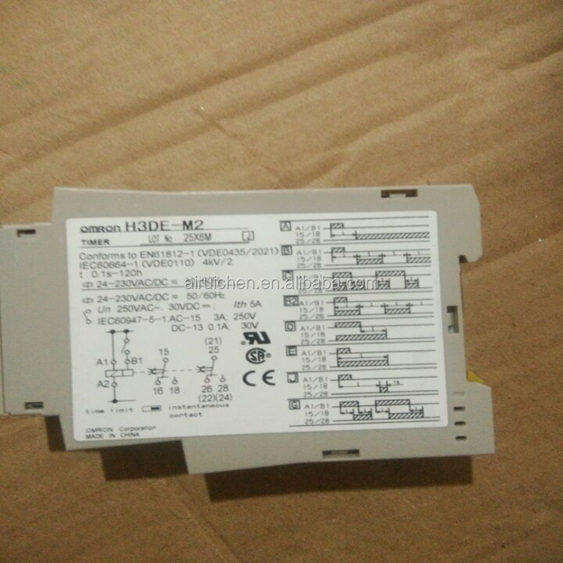 OMRON H3DE-M2 Electromechanical Relay 24V to 230VDC 24V to 230VAC 5A DPDT (100x22.5x79)mm DIN Rail Time Delay DC12
