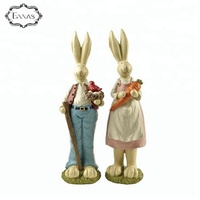 polyresin easter bunny decoration