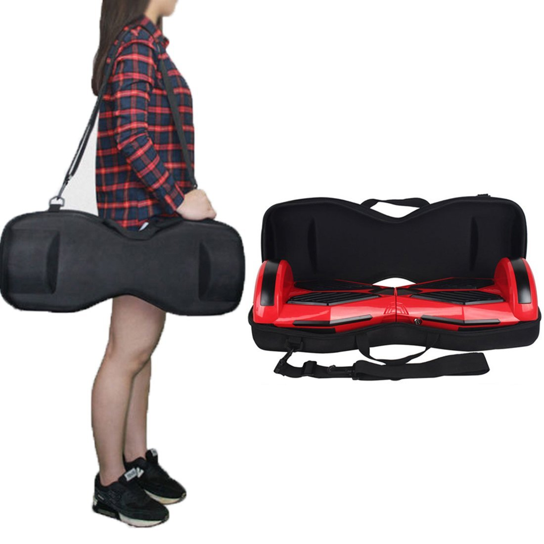 "6.5inch Scooter Carrying Bag JackSuper EVA Hard Case for 6.5"" Hoverboards Self Balancing Electric Scooter"