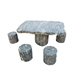 Best Selling Modern Park Natural Table And Chairs With sculpture