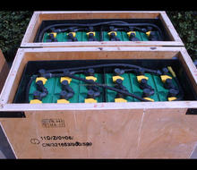 Deep Cycle Traction Battery Germany and UK Standard Forklift Traction Reach Battery