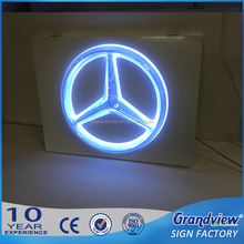 professional chrome backlit car glowing logo
