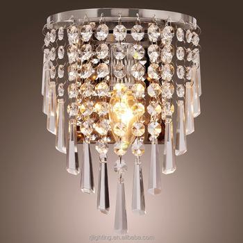 Neueste Design Moderne Kleine Silber Kristall Wandleuchte Kronleuchter  Licht Für Hotel Lobby Foyer