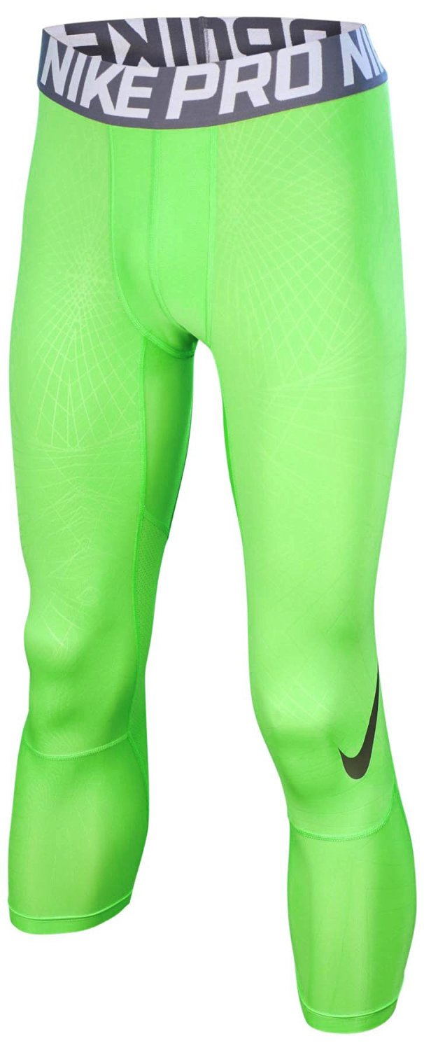 93351270dc6dd Get Quotations · Nike Men's Pro Hypercool 3.0 Football Tights-Action Green