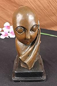 ...Handmade...European Bronze Sculpture Original Abstract Modern Art Alien By Milo Marble (DS-384-UK) Bronze Sculpture Statues Figurine Nude Office & Home Décor Collectibles Sale Deal Gifts