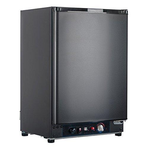 SMETA Gas&Electric Fridge Absorption Refrigerator without Freezer 110v/12v/Propane, RV Car Cooler, Black