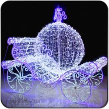 Outdoor Christmas Wire Cinderella Carriage Outdoor Christmas Wire