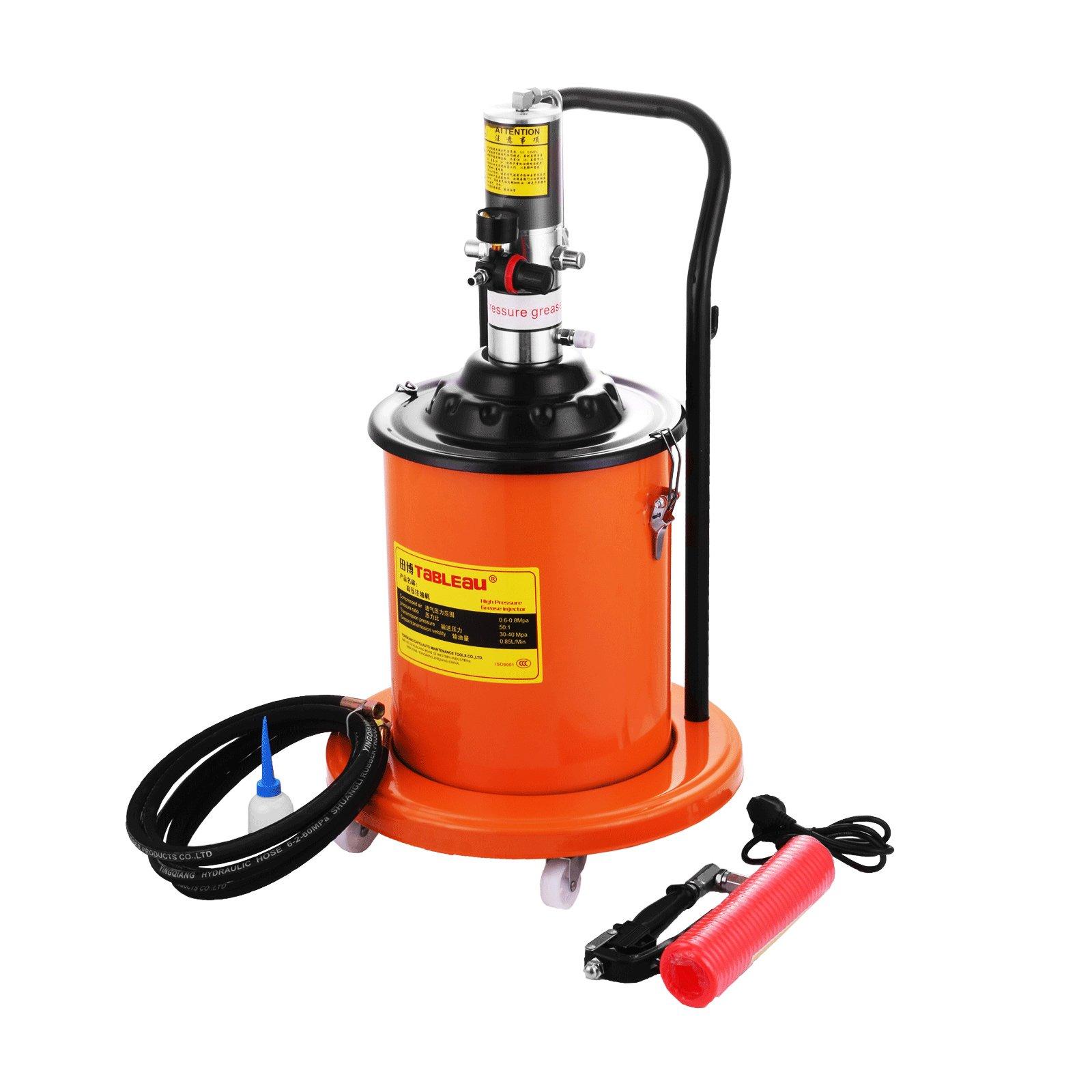 Mophorn Grease Pump 0.85L/Min Electric Grease Pump 20L Grease Pump 5 Gallon Air Operated High-Pressure Grease Pump(20L)