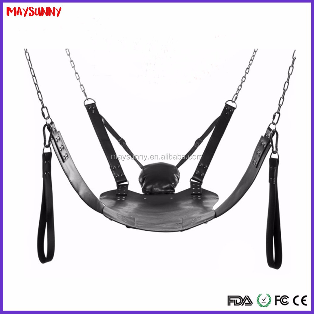 Japanese Outdoor 360 Degree Spinning Round Leather Sex Swing For Adults