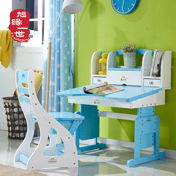 Merveilleux Chinese Colourful Study Table Boys Girls Adjustable Wood Study Chair And  Table