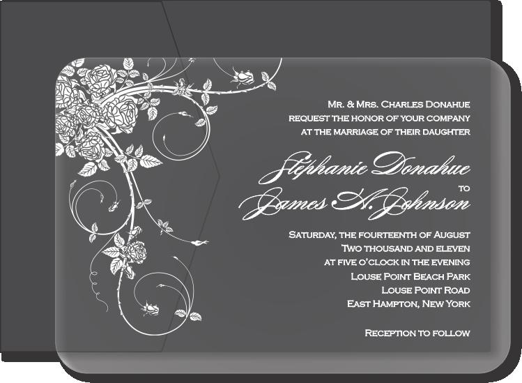 Clear Plastic Wedding Invitations Arts Arts