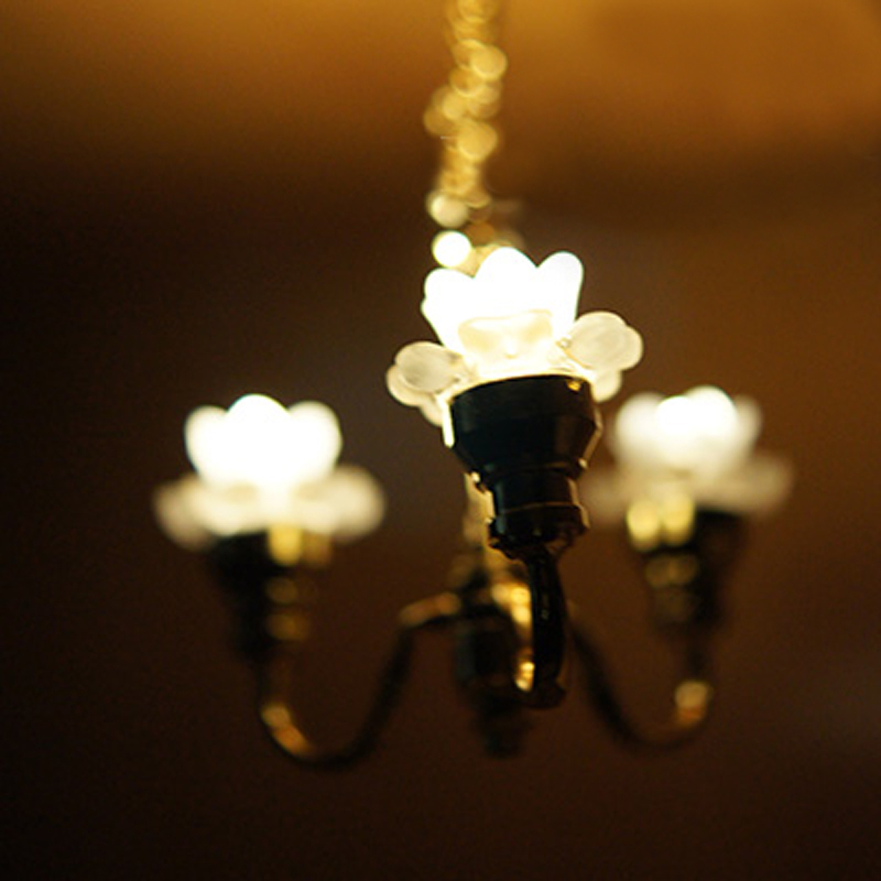 Dollhouse Ceiling Light: Mini 1 :12 Scale Dollhouse Lamp Miniature Ceiling Light
