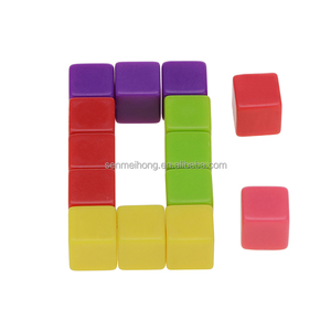bulk colorful square corner blank dice