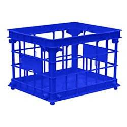Office Depot(R) Filing/Stacking Crate, Blue
