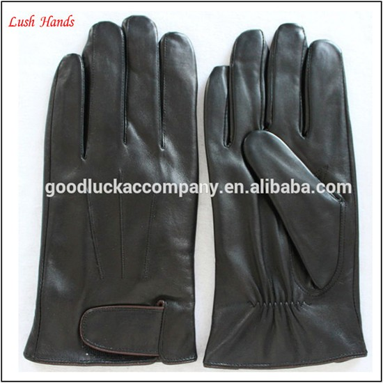 Men's winter leather gloves sheepskin leather gloves