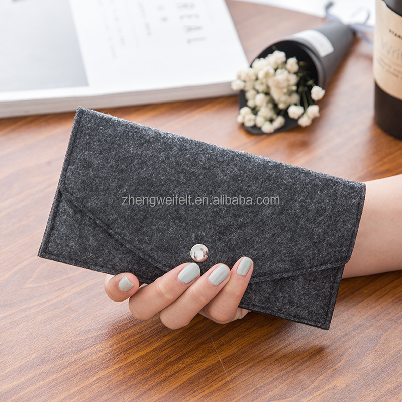 Cheap Promotion Gift Felt Wallets Latest Design Ladies Purse