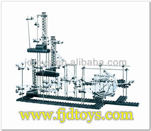 Intelligent assembly space rail toys for children