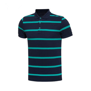 Wholesale Custom High Quality Cotton Pique Sports Striped Golf Polo T shirt Men