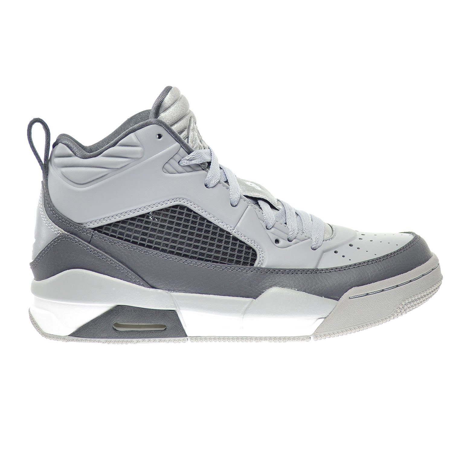 2679f3a66a2aac Get Quotations · Jordan Flight 9.5 BG Big Kids Shoes Wolf Grey White-Dark  Grey 654975-