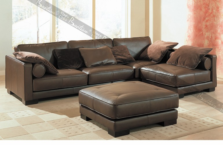Modern Orange Leather Sofa Malaysia Made Furniture Leather Sofa Furniture Indian  Seating Sofa