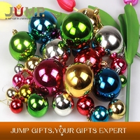 Various Size Christmas Light Balls Glossy Xmas Ball Christmas Tree Decorations