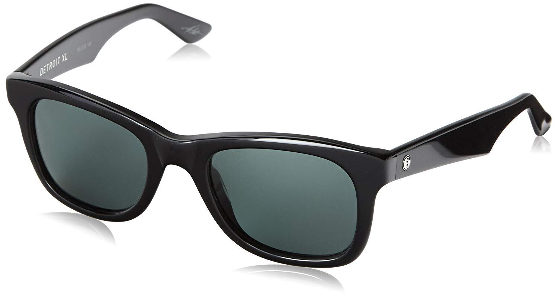 4c6d142c30 Get Quotations · Electric Visual Detroit XL Gloss Black OHM Grey Sunglasses