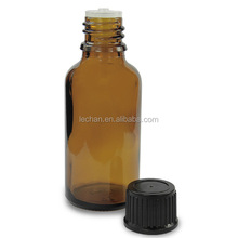 packaging dark brown/amber nicotine-liquid glass bottle with black or white childproof &tamper cap