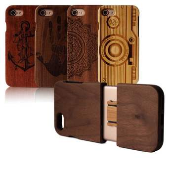 2017 quality wood phone case,two pieces of all wood for iphone case,for iphone 7 wood case