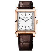 Женские часы AGELOCER, кварцевые часы с кожаным ремешком, под платье, 3403D2(China)