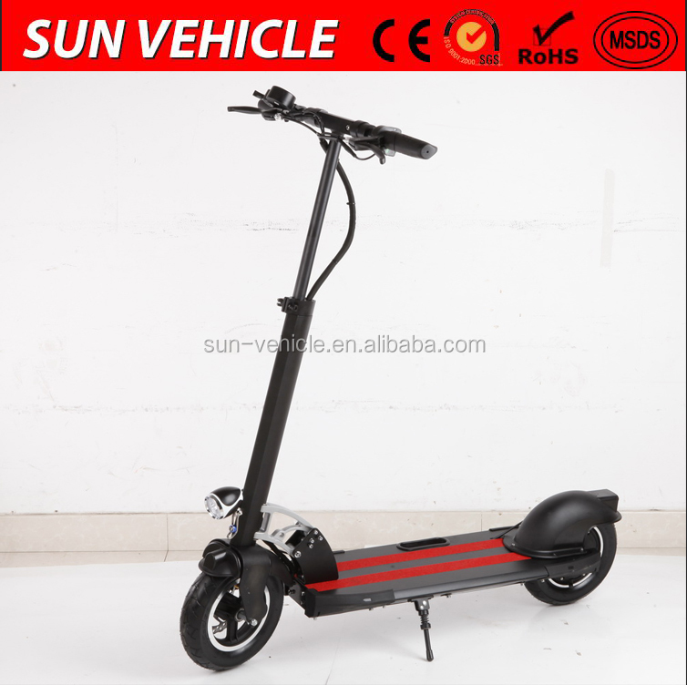 aluminium alloy frame electric 2 wheel scooter 48V 500W with 10 inch wheel,18kg weight