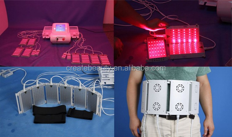 Best portable 12 pads  635nm & 650nm & 780nm & 980nm lipo laser / 4D lipolaser machine for Weight Loss