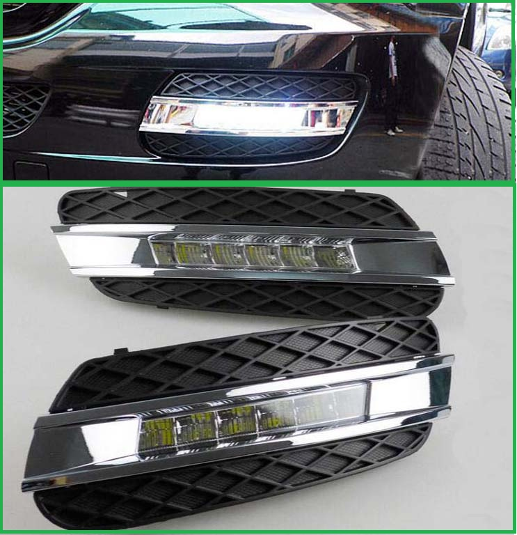 2pcs led daylight for mercedes benz ml350 w164 ml280 ml300 ml320 2006 2009 accessories led drl. Black Bedroom Furniture Sets. Home Design Ideas