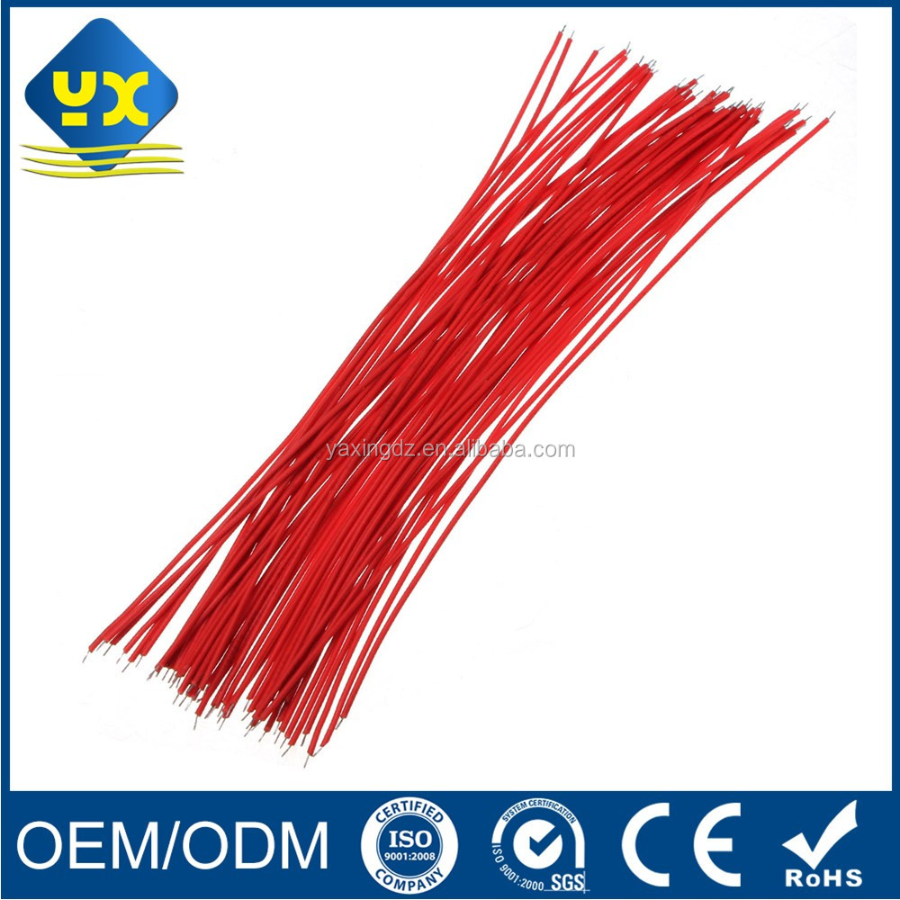 Electronic wire 50Pcs Breadboard Jumper Cable Wire Tinned 20cm For Arduino Kit Red