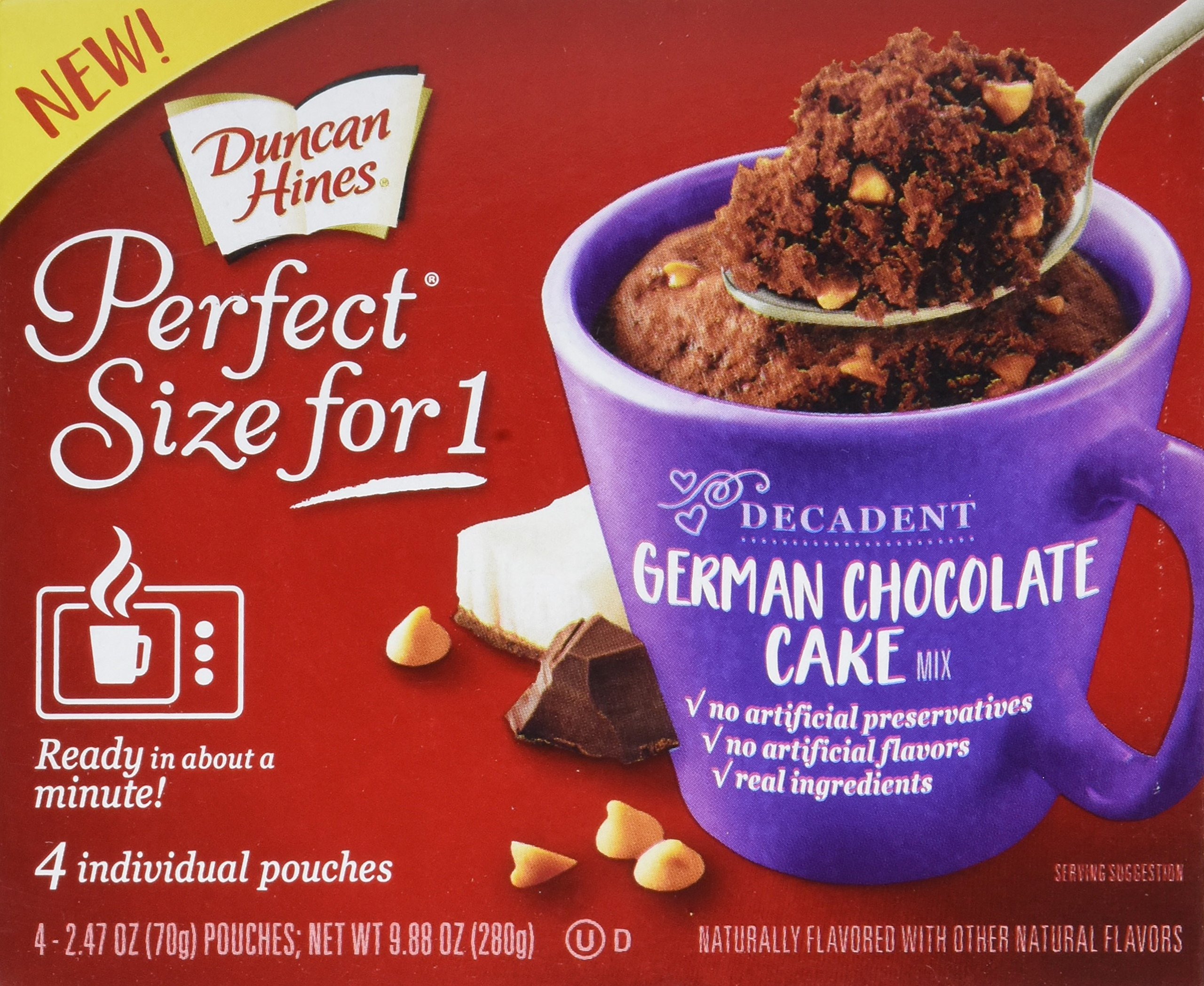 Buy Duncan Hines Perfect Size For 1 Mug Cake Mix Ready In About A Minute German Chocolate Cake 4 Individual Pouches In Cheap Price On Alibaba Com