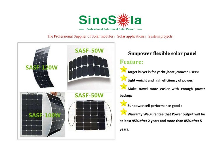 flexible solar panel used on yacht,car,boat,snow mobile,golf-cart etc