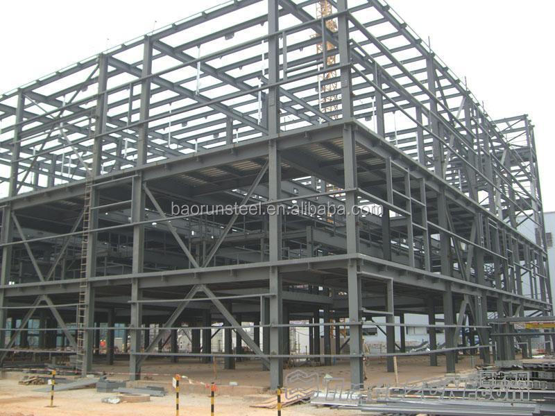 prefab light steel space frame building for house